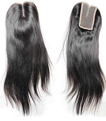 Fermeture de Lacet Cheveux Humains Naturels