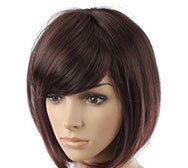 Full Lace Wig Cheveux Humains Courts (BWLW-410)